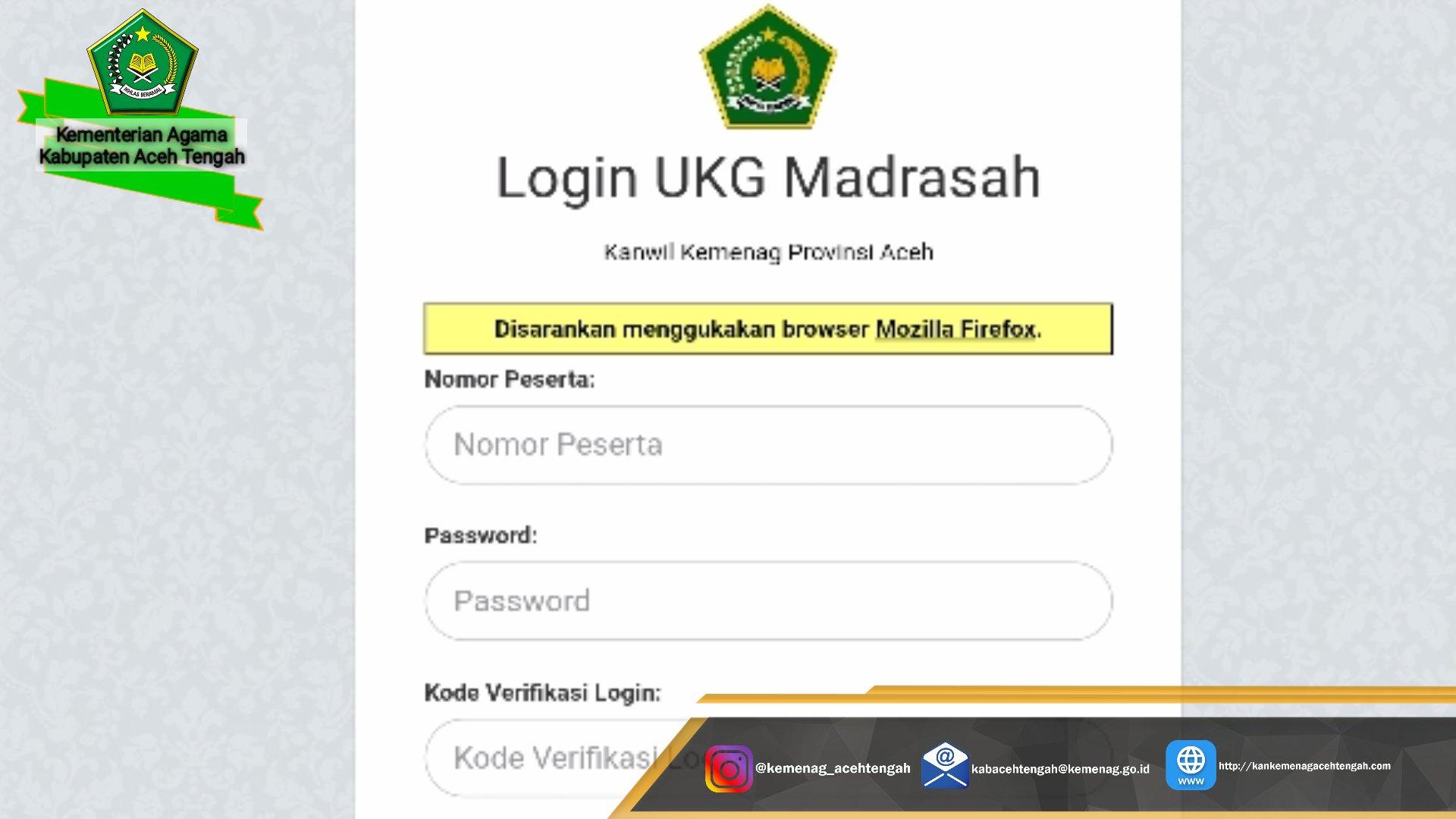 Besok Ukgm Aceh Tengah Dilaksanakan Yuk Cek Lokasi Ujiannya Kemenag Aceh Tengah
